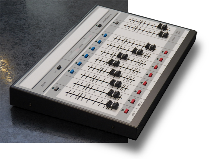 The ARC 8 console is compact and feature laden. It has a phone input channel, USB channel, mic channels and much more.